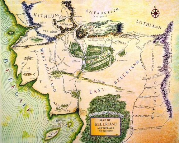 Map_of_Beleriand - Сильмариллион