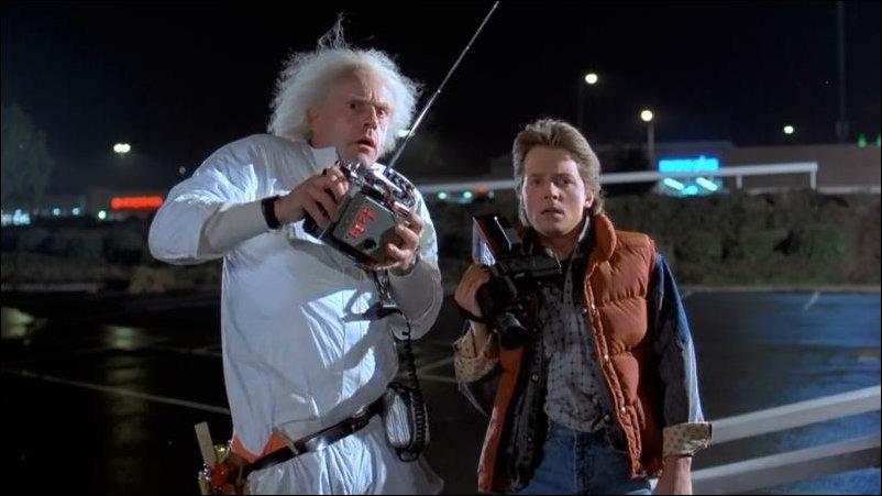 назад в будущее - док и марти